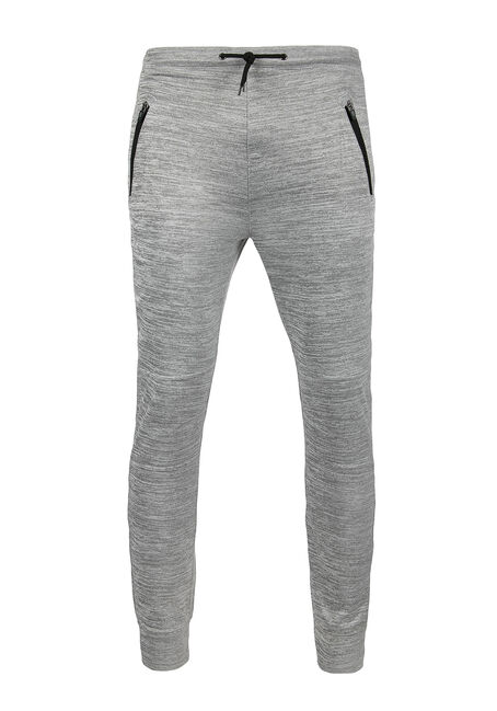 Men's Space Dye Jogger, HEATHER GREY, hi-res