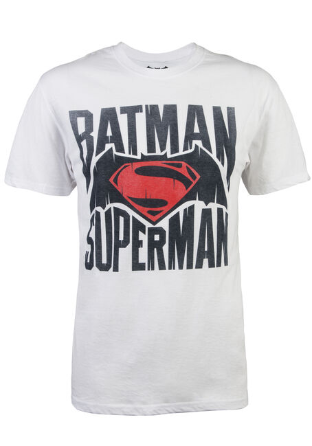 Men's Dawn of Justice Tee, WHITE, hi-res