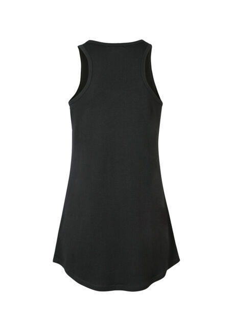 Ladies' Broke Up With Gym Racerback Tank, BLACK, hi-res