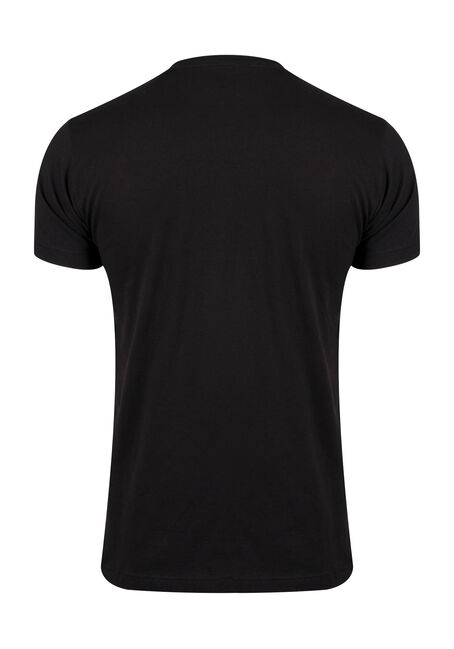 Men's Foliage Skull Tee, BLACK, hi-res
