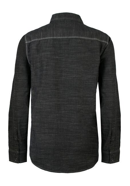 Men's Striped Shirt, BLACK, hi-res