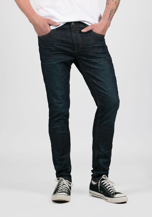 Men's Skinny Taper Jeans, DARK VINTAGE WASH, hi-res