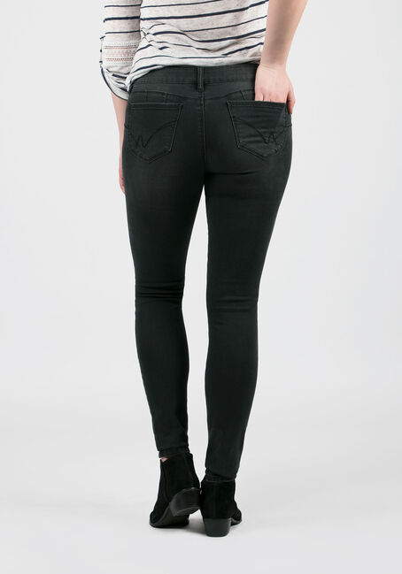 Ladies' Skinny Jeans, BLACK, hi-res