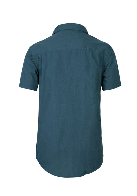 Men's Chambray Shirt, TEAL, hi-res