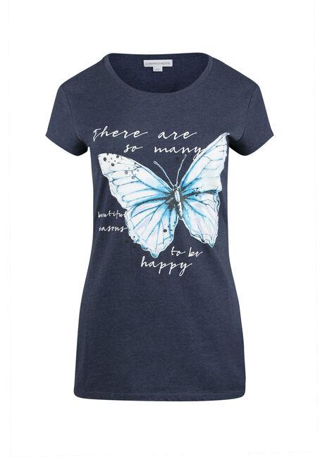 Ladies' Butterfly Print Tee