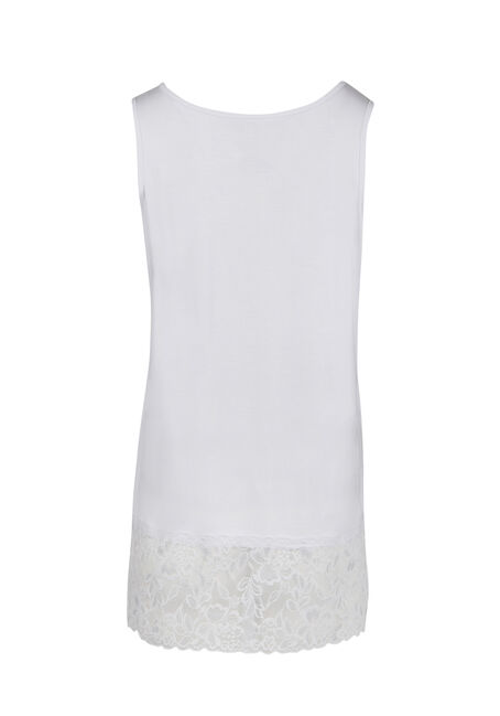 Ladies' Cage Neck Tunic Tank, WHITE, hi-res