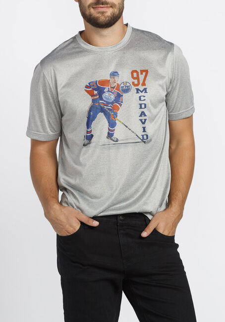Men's NHL Oilers Tee, HEATHER PEBBLE, hi-res