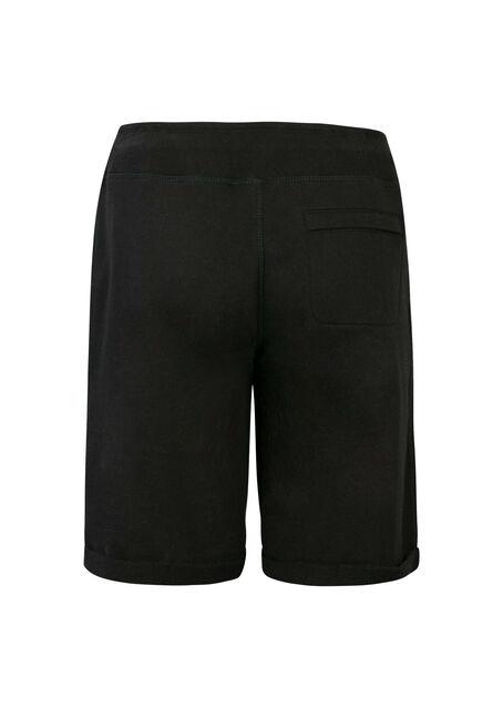 Ladies' Drawstring Bermuda Short, BLACK, hi-res