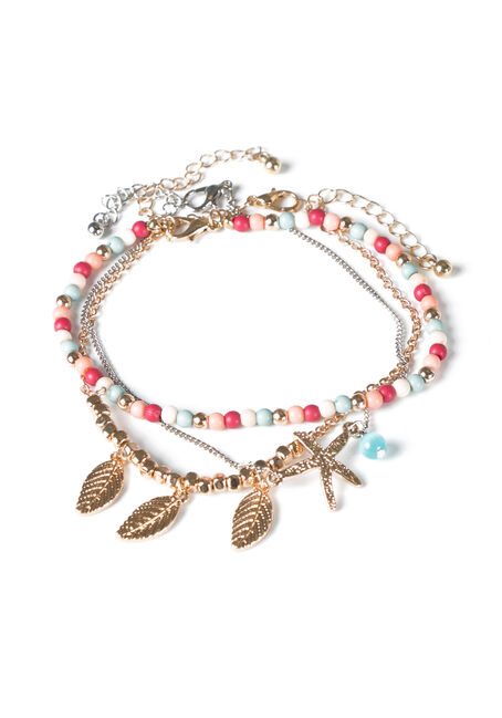 Ladies' Trio Anklet Set