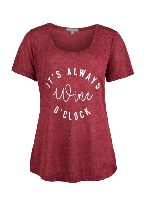 Ladies' Wine O'Clock Tee, ROSEBUD, hi-res