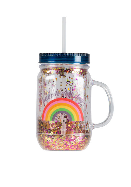 Have A Nice Day Rainbow Mason Jar