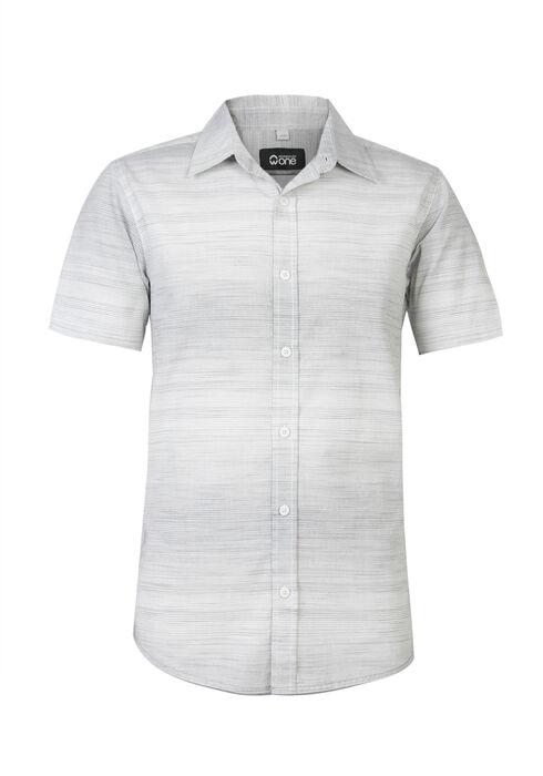 Men's Mini Stripe Shirt, WHITE, hi-res