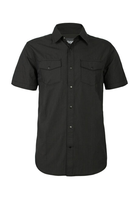 Men's Gingham Snap Front Shirt