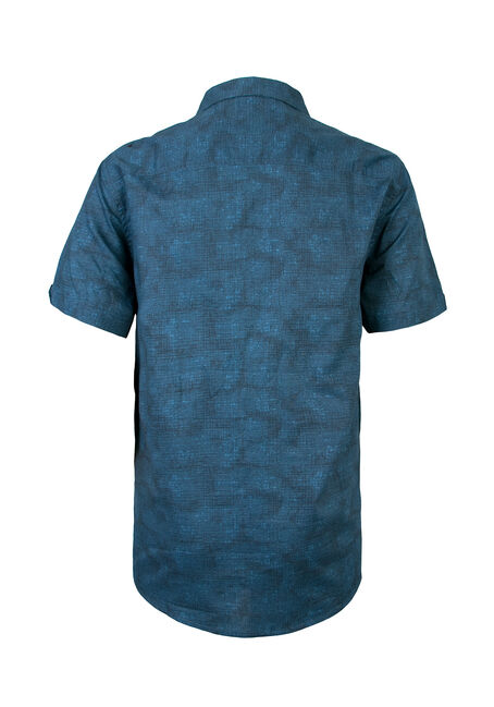 Men's Printed Shirt, BLUE, hi-res