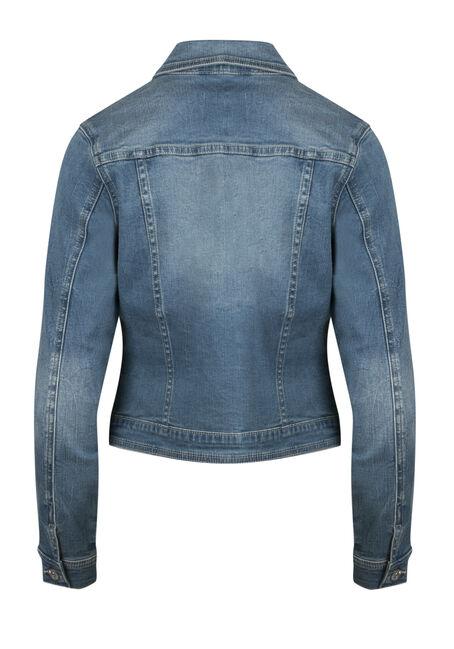 Ladies' Super Soft Jean Jacket, MEDIUM WASH, hi-res