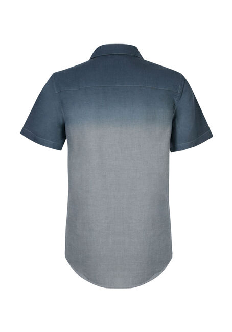 Men's Dip Dye Chambray Shirt, BLUE, hi-res