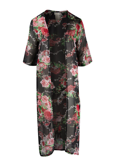 Ladies' Floral Kimono Duster