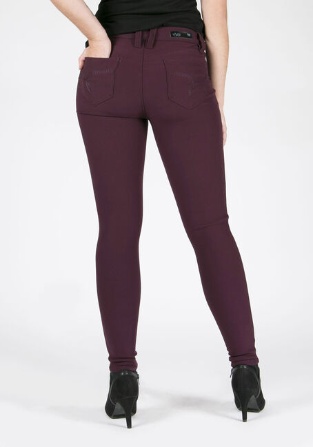 Ladies' Skinny Pants, PRUNE, hi-res