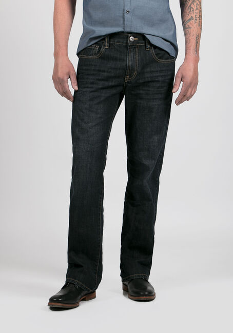 Men's Straight Leg Jeans, RINSE WASH, hi-res