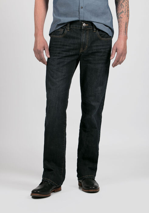 Men's Straight Leg Jeans, RINSE WASH, hi-res