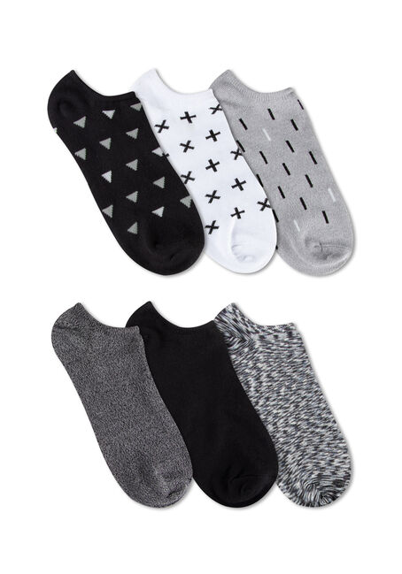 Ladies' 6 Pair Black & White Socks