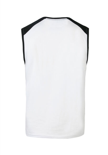 Men's Strong N' Free Tank, WHITE, hi-res