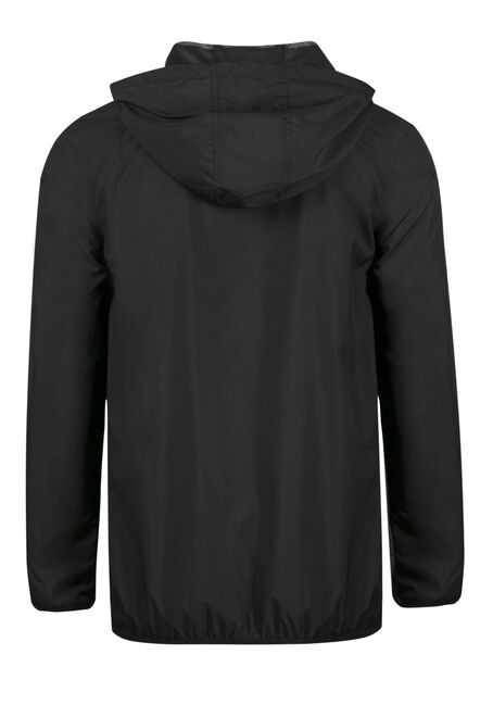 Men's Windbreaker Jacket, BLACK, hi-res