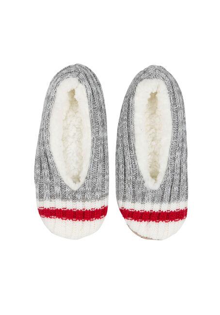 Ladies' Fuzzy Baba Slippers, GREY, hi-res