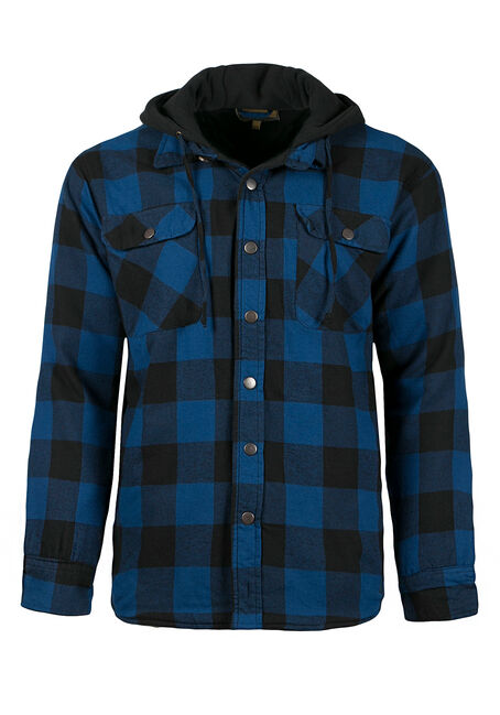 Men's Plaid Jacket, ROYAL BLUE, hi-res