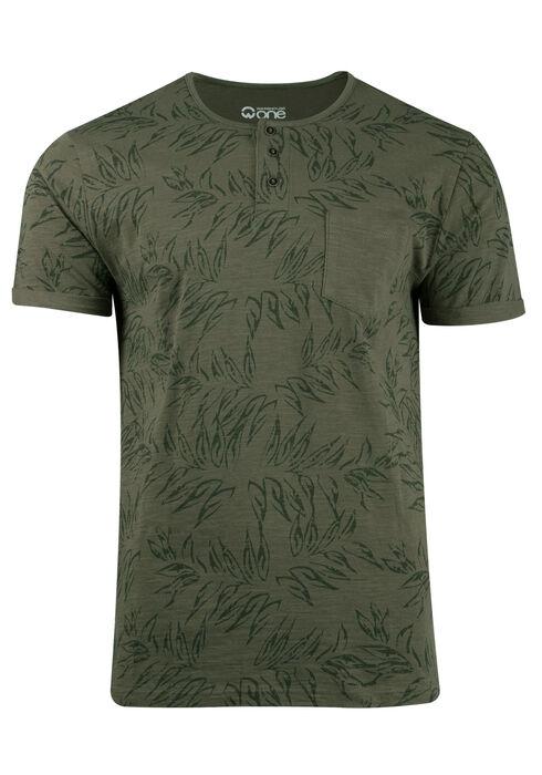 Men's Tropical Print Tee, LIGHT OLIVE, hi-res