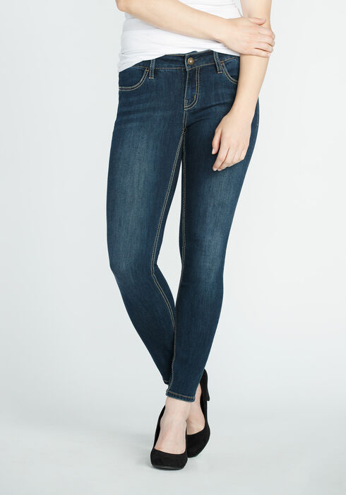 Ladies' Dark Wash Jegging, DARK VINTAGE WASH, hi-res