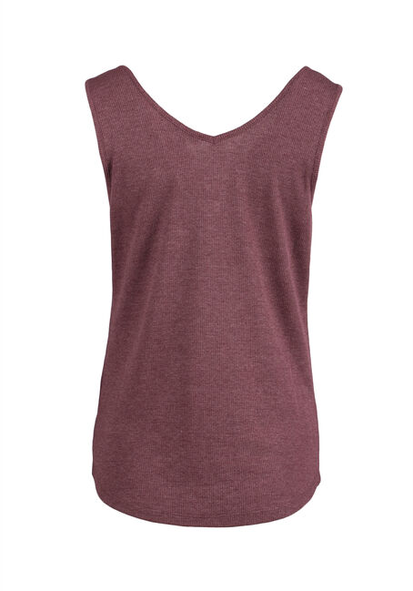 Ladies' Ladder Neck Tank, WINE, hi-res