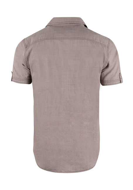 Men's Textured Shirt, SAND, hi-res