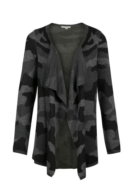 Ladies' Camo Open Cardigan