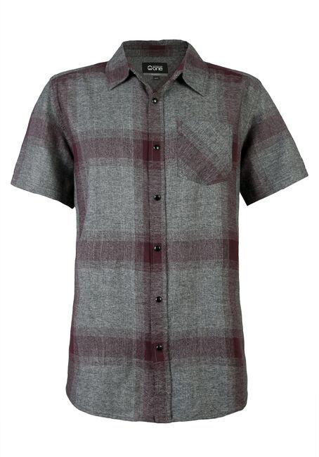 Men's Short Sleeve Plaid Shirt