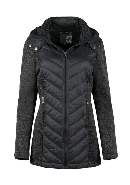 Ladies' Quilted Jacket, CHARCOAL, hi-res