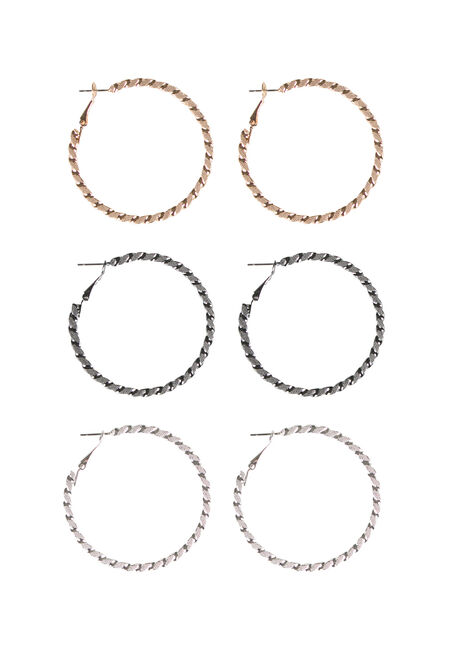 Ladies' Etched Hoop Earring