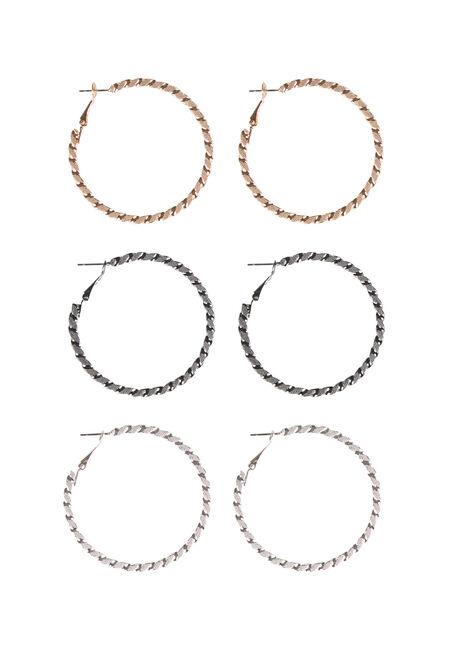 Ladies' Etched Hoop Earring