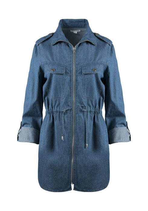 Ladies' Utility Jacket, DENIM BLUE, hi-res