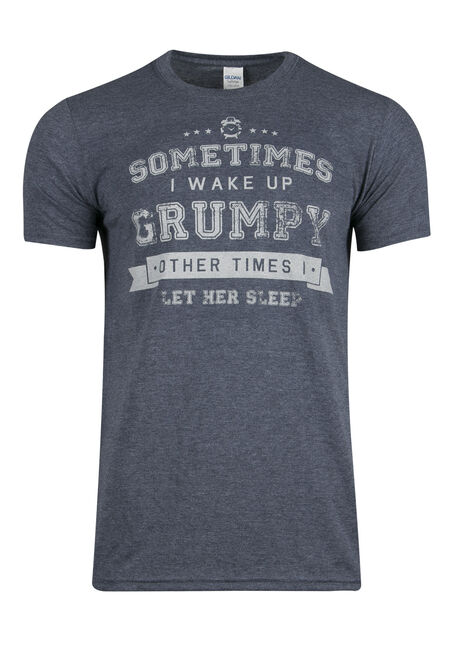 Men's Grumpy Tee, HEATHER NAVY, hi-res
