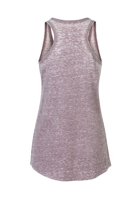 Ladies' Burnout Racerback Tank, MULBERRY, hi-res