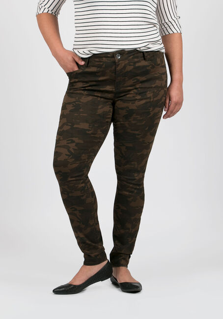 Ladies' Plus Size Camo Skinny Pants
