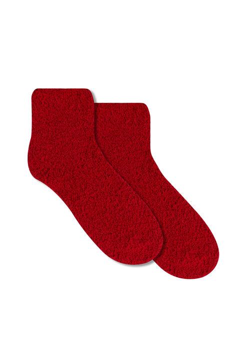 Ladies' Plush Sock, RED, hi-res