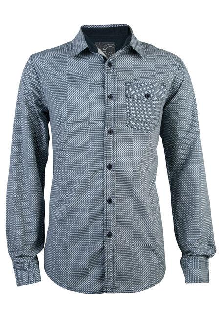 Men's Printed Shirt, NAVY, hi-res