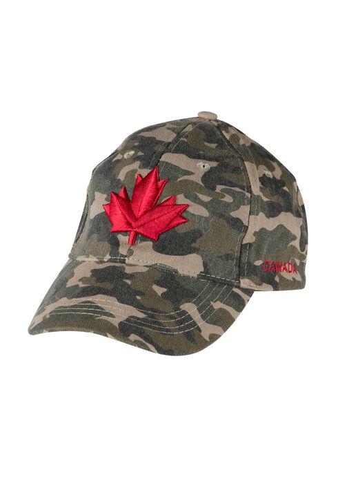 Men's Camo Canada Baseball Hat, LIGHT OLIVE, hi-res