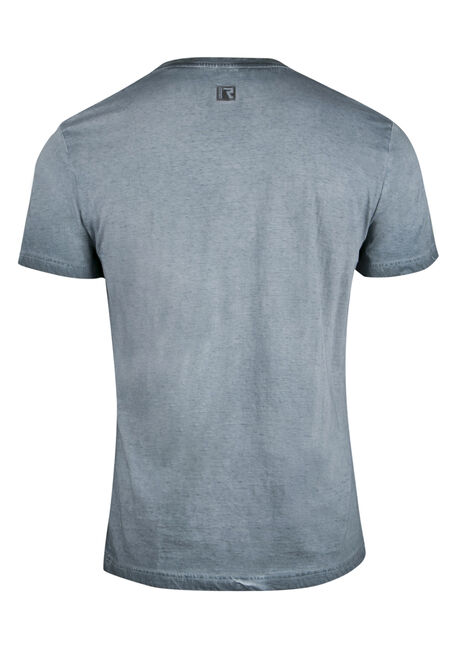 Men's Split V-neck Tee, BLUE, hi-res