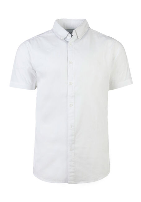 Men's Poplin Shirt, White, hi-res