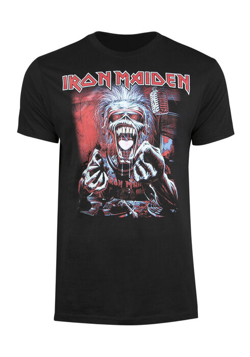 Men's Iron Maiden Tee, BLACK, hi-res
