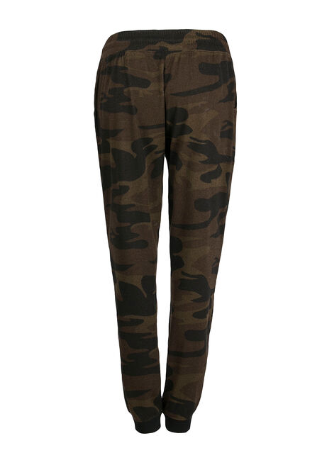 Ladies' Camo Jogger, OLIVE, hi-res