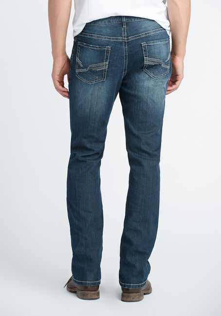 Men's Slim Boot Jeans, DARK VINTAGE WASH, hi-res